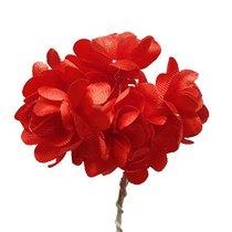 Цветки яблони 2,5 см, цвет красный (5 штук)