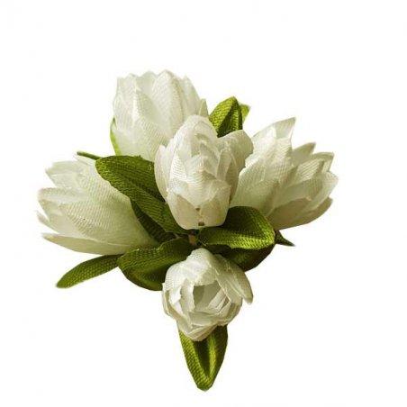 Букетик тюльпанов 1 см, цвет айвори (5 штук)