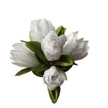 Букетик тюльпанов 1 см, цвет белый (5 штук)