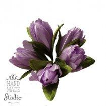 Букетик тюльпанов 1 см, цвет светло-сиреневый (5 штук)