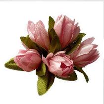 Букетик тюльпанов 1 см, цвет светло-розовый (5 штук)