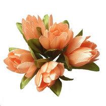 Букетик тюльпанов 1 см, цвет персиковый (5 штук)