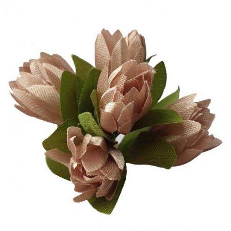 Букетик тюльпанов 1 см, цвет пудрово-розовый (5 штук )