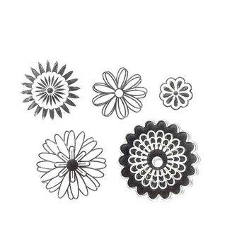 """Набор силиконовых штампов """"Цветы"""" №1, 8х10 см"""