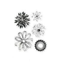 """Набор силиконовых штампов """"Цветы"""" №2, 8х10 см"""