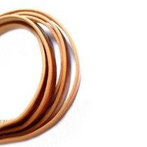 Шнур плоский (кож.зам.), цвет коричневый, 5 мм (1,2 м.)