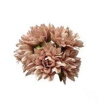 Букетик хризантем 3 см, цвет пудрово-розовый (5 штук)