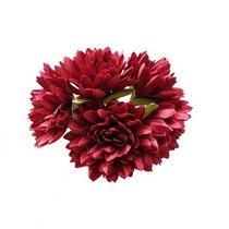 Букетик хризантем 3 см, цвет бордовый (5 штук)