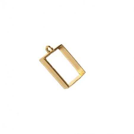 """Рамка (сеттинг) под заливку эпоксидной смолой """"Прямоугольник"""" №2 (золото), 2,5х3,5 см"""