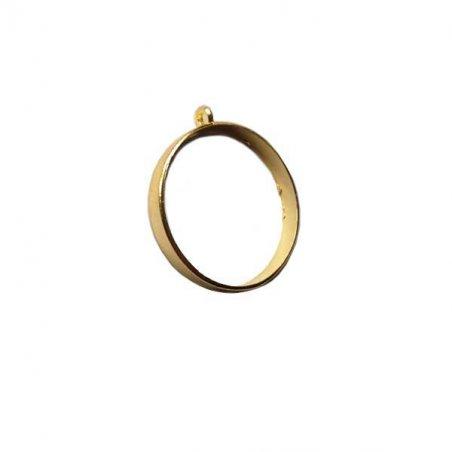 """Рамка (сеттинг) под заливку эпоксидной смолой """"Круг"""" (золото), d 3,5 см"""