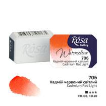 Краска акварельная №706 Кадмий красный светлый, 2,5мл, ROSA Gallery