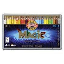 Набор многоцветных карандашей KOH-I-NOOR MAGIC 3 в1, 23 шт. + блендер