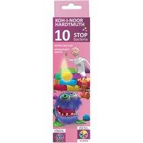 Пластилин антибактериальный KOH-I-NOOR Stop bacteria ,10 цветов
