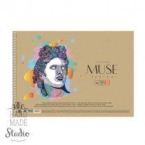 """Альбом для эскизов (обложка крафт-картон) """"MUSE """" А4, 100г/м2, 50л., MUSE"""