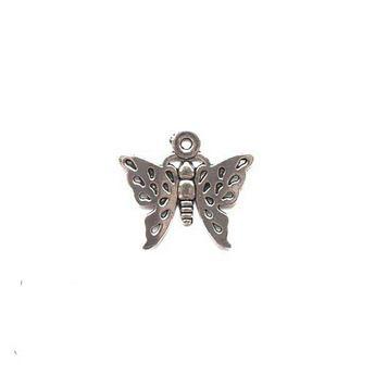 Серебряная металлическая подвеска Бабочка №2, 2х1,7 см