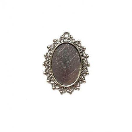 Основа для декорирования, 3,8х3 см, цвет античное серебро, 1шт