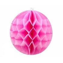 """Бумажный шар """"Соты"""" d 15 см., цвет розовый"""