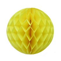 "Бумажный шар ""Соты"" d 15 см, цвет желтый"