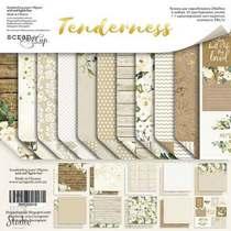 "Набор двусторонней бумаги 20х20см ""Tenderness"", 190г/м2, 10шт"