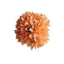 Букетик хризантем 3 см, цвет персиковый (5 штук)
