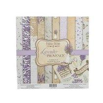 """Набор двусторонней бумаги 20х20 см """"Lavender PROVENCE"""", 200г/м2, 10шт"""