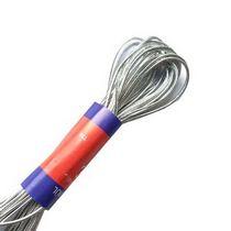 Эластичный шнур-резинка люрексовая (круглая резинка), d 2мм, цвет - серебро