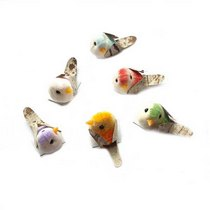 Декоративная птичка в ассортименте (3,8х1,9см), 1 штука