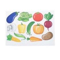 """Фетр жесткий с рисунком 1,2мм """"Овощи"""" 20х14 см"""