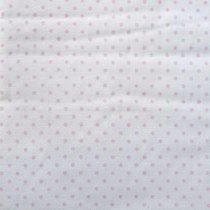 """Отрез бязи """"Горошки"""" 3 мм розовые, 40х50 см"""