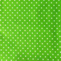 """Отрез бязи """"Горошки"""" 4 мм на зеленом, 40х50 см"""