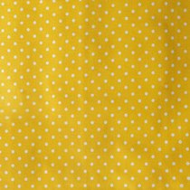 "Отрез бязи ""Горошки"" 4 мм на желтом, 40х50 см"