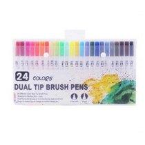 """Набор двухсторонних маркеров-линеров """"DUAL TIP BRUSH PENS"""", 24 цвета"""