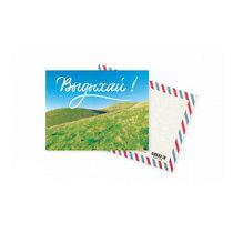 """Мини открытка """"Выдыхай!""""+ крафт конверт 10х7,5 см"""