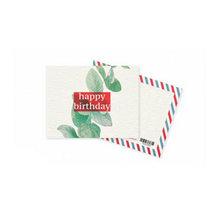 """Мини открытка """"Happy Birthday"""" eucalipt 10х7,5 см"""