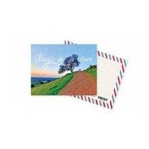 """Мини открытка """"Magic is true""""+ крафт конверт 10х7,5 см"""