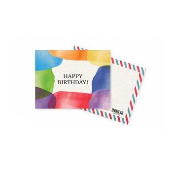 """Мини открытка """"Happy Birthday"""" 10х7,5 см"""