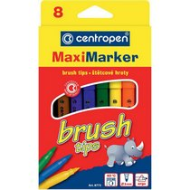 """Набор фломастеров """"Brush Maxi"""" Centropen, 8 цветов"""