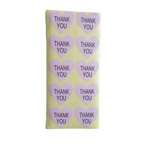 "Наклейки на листе в форме сердца ""THANK YOU"" 3,8х3,5 см, 10 штук"