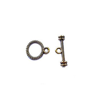 №34 Тогл овальный 1,2х1 см, цвет античное золото, 1шт