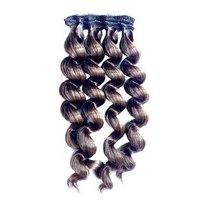 """Искусственные волосы """"Витой локон средний"""" на трессе 15 см, цвет коричневый №2"""