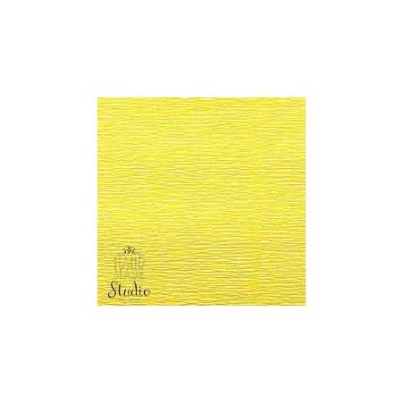Креп-бумага (гофро-бумага) Италия, плотность - 180г/м², 50смх2,5м, №575 Лимонно-желтый