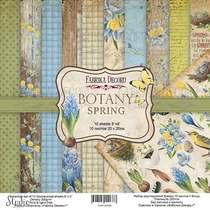 """Набор двусторонней бумаги 20х20 см """"BOTANY Spring"""", 200г/м2, 10шт"""
