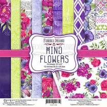 "Набор двусторонней бумаги 30,5х30,5 см ""MIND Flowers"", 200г/м2, 10шт"