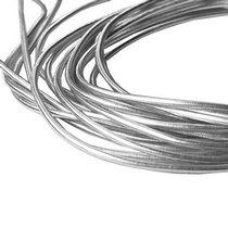 """Канитель """"Гладкая""""  глянцевая 0,8 мм, цвет серебро 550 см/5 г"""