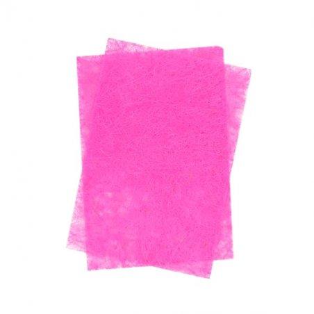 Сизаль листовой с глиттером 20*30 см, цвет розовый, 1 лист