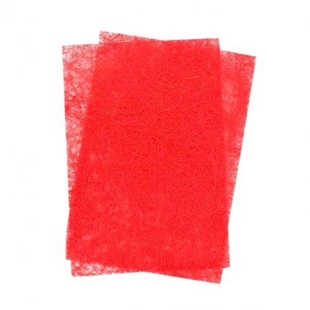 Сизаль листовой с глиттером 20*30 см, цвет красный, 1 лист