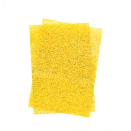 Сизаль листовой с глиттером 20*30 см, цвет желтый, 1 лист