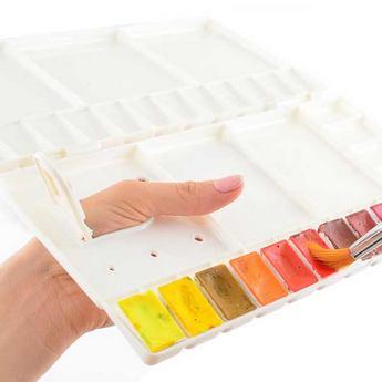 Палитра-пенал для красок Santi, цвет кремовый, 27*26 см