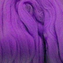 Шерсть для валяния 100% (22-24 мк.) Фиолетовый №56, 50г