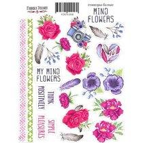 "Набор наклеек (стикеров) ""MIND Flowers"", 058"